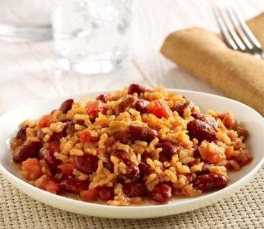 بیماری قلبی- خوراک برنج و لوبیا