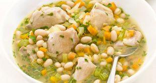 خوراک مرغ و لوبیا سفید